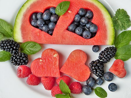 Fructe, Pepene Verde, Inima, Afine, Mure