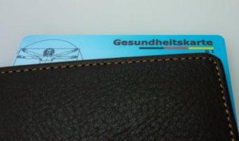 Black Leather Wallet With Gesundheitskarte Card